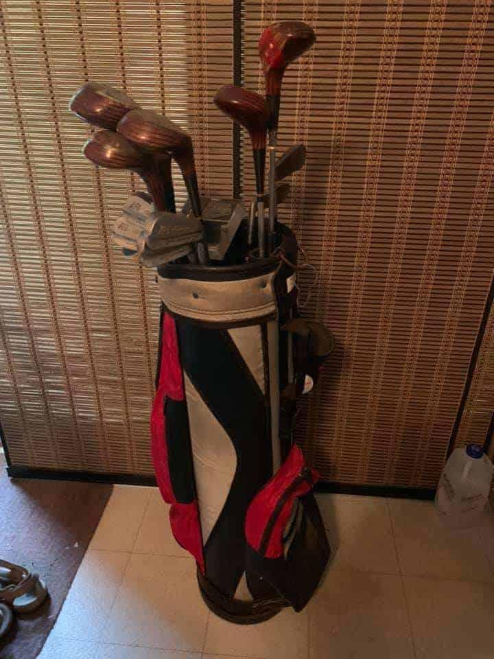 Vintage Golf Bag and Clubs For Sale - Pedersen