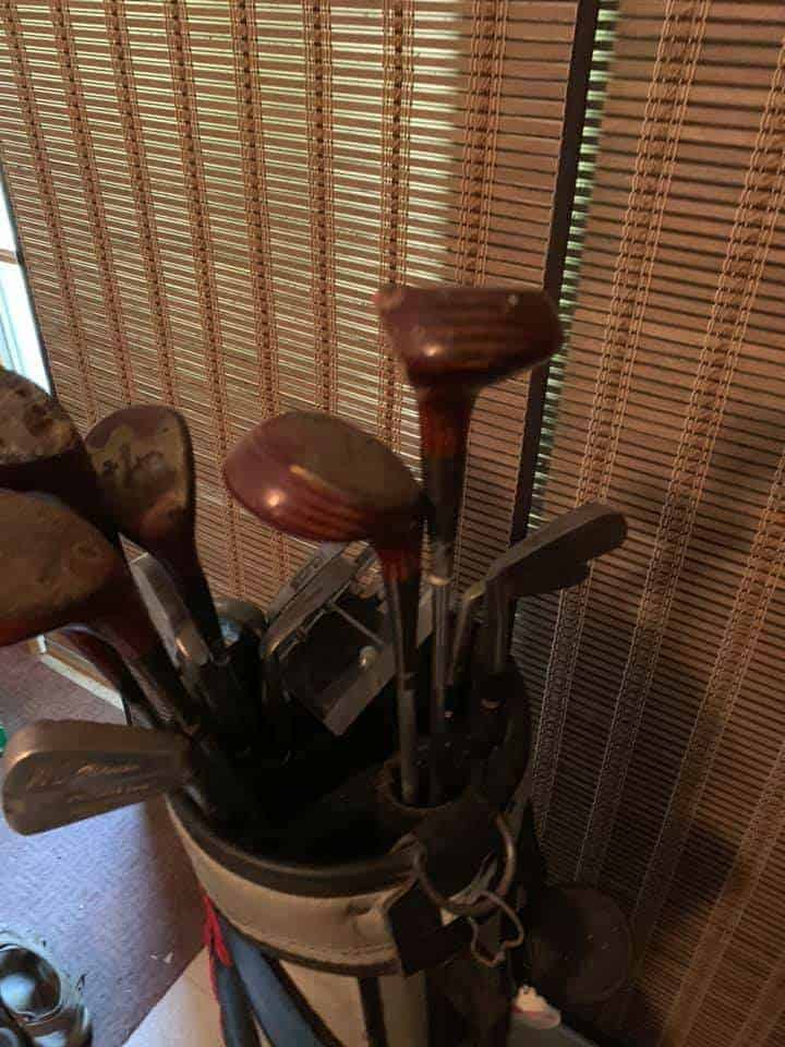 Vintage Golf Bag and Clubs For Sale - Pedersen